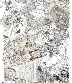 treasure map inspired prints by Teyhan