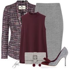 Tweed - Blazer,Bag & Shoes
