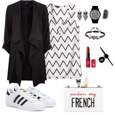 #001 by windysumongga on Polyvore featuring polyvore moda style adidas Cecilia Ma Express May28th Arizona Maybelline
