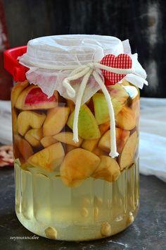 elma sirkesi nasıl yapılır Turkish Recipes, Fermented Foods, Medicinal Plants, Non Alcoholic, Winter Food, Frozen Yogurt, Superfood, Apple Cider, Fruit Salad