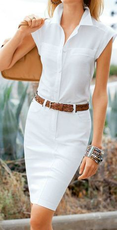 Looking for all white outfits style for that all white party? Browse our photo gallery from top stylist to pick your all white outfit and rock that party. Summer Work Fashion, Summer Office Outfits, Summer Fashion Trends, Spring Outfits, Outfits 2016, Fashion 2015, Ladies Fashion, Boho Fashion, Spring Fashion