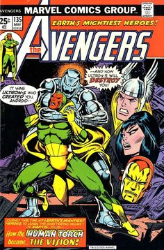 The Avengers 135, May 1975, cover by Jim Starllin and John Romita.