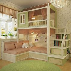 Each and every room of your home is undoubtedly very important and needs special care and attention in its decoration. But when it comes to your kids room then you need to be extra cautious as your kids bedroom design… Continue Reading → Cute Bedroom Ideas, Cute Room Decor, Girl Bedroom Designs, Room Ideas Bedroom, Baby Bedroom, Awesome Bedrooms, Cool Rooms, Bed Ideas, Bedroom Girls
