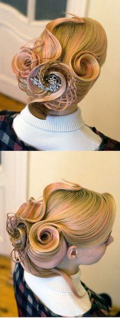 creative hairdo #hair #style #updo