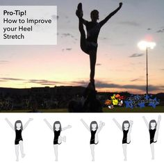 How to improve your heel stretch. #cheertips #stretch