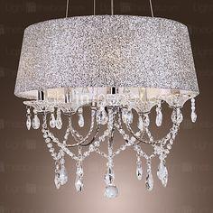 Dazzling Modern 5 luces de la lámpara con el cristal - USD $ 179.99
