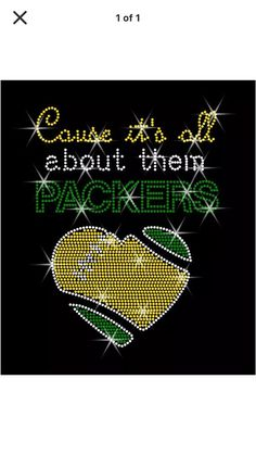 Ships in One DAY Green Bay Packers rhinestone iron on by lawler01