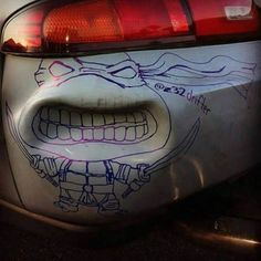 Best way to cover up a dent EVER!