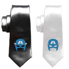 Captain America skinny tie superhero by SleekandUniqueGifts Geek Wedding, Wedding Logos, Wedding Ties, Captain America Skinny, Superman Wedding, Comic Book Wedding, Thor Superhero, Avengers Comics, Cool Ties