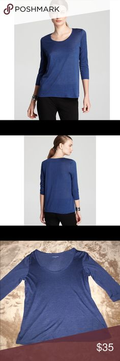 Eileen Fisher U Neck Three Quarter Sleeve Tee Like new Eileen Fisher U Neck Three Quarter Sleeve Tee. Silk/Cotton, U Neck, pullover style, no closures. Eileen Fisher Tops Tees - Short Sleeve