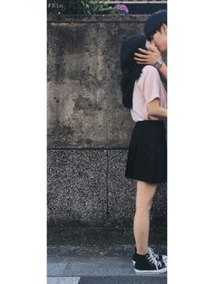 . follow me #Rynn Ulzzang Couple, Avatar Couple, Together Forever, Bff, Skater Skirt, Couples, Skirts, Goals, Fashion