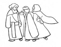 Divers Coloriages : les disciples d'Emmaüs - KT42