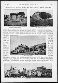 1894 Antique Print - Ancient Temples Malta Balearic Islands Menorca (179): Amazon.co.uk: Amazon.co.uk: Menorca, Malta, Balearic Islands, Antique Prints, Santa Monica, Temples, Antiques, Antiquities, Malt Beer