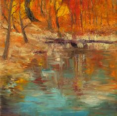 """Reflection Autum"" Paintings Collections by Artist Animesh Roy http://colourentice.com/artist-profile/Animesh-Roy.php?limit=9&sortby= For more works visit us at www.colourentice.com or for assistance call us at 9920042242 ‪#‎Art‬ ‪#‎Paintings‬ ‪#‎homedecor‬ ‪#‎artonsale‬ ‪#‎Landscape‬"