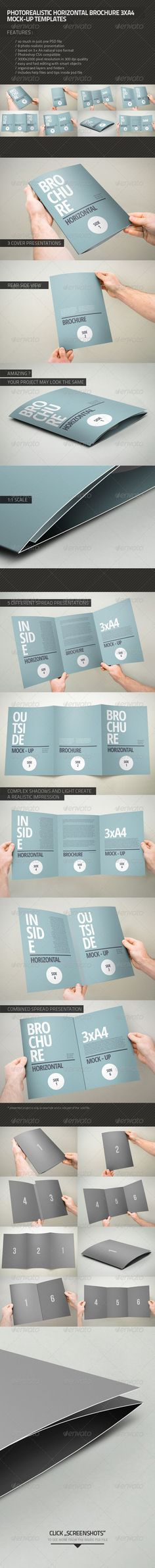 Buy Brochure Mock-up by on GraphicRiver. Photorealistic mock-up brochure template. Features 8 photo realistic presentation Photoshop compatible based on Brochure Mockup, Design Brochure, Brochure Template, Box Mockup, Mockup Templates, Design Templates, Event Flyer Templates, Presentation Templates, Mockup Photoshop