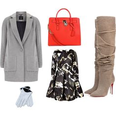 """""""grey coat # first version"""" by inainthecity on Polyvore"""
