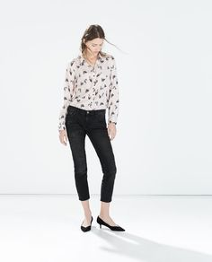 Image 1 of BIRD PRINT SHIRT from Zara