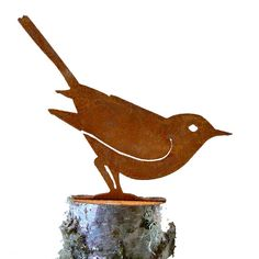 Brown Thrasher  Steel Silhouette with Rusty by ElegantGardenDesign