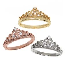 Shop for Eternally Haute Sterling Silver Pave Cubic Zirconia Princess Kate Crown Ring. Get free delivery On EVERYTHING* Overstock - Your Online Jewelry Shop! Get in rewards with Club O! Tiara Ring, Pave Ring, Cubic Zirconia Rings, Or Rose, Beautiful Rings, Sterling Silver Jewelry, 925 Silver, Silver Rings, Jewelry Accessories