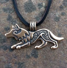 Bronze Wolf Pendant by CraftyCelts on Etsy, $45.00