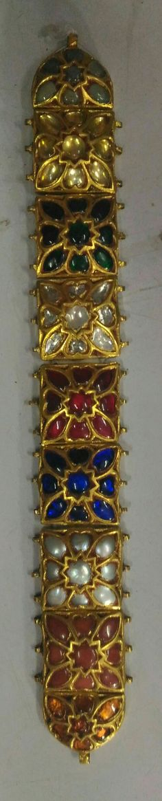 Gorgeous Navratana chokar cum bracelet... at Jewels Tree, Jaipur