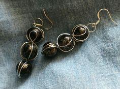 Czarno srebrne kolczyki / Black and silver earrings