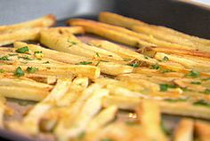 "Garlic ""Fries"" recipe from Ellie Krieger via Food Network"