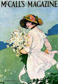 Eastman, Ruth - Picking Posies- 'McCall's' mag- June, 1914