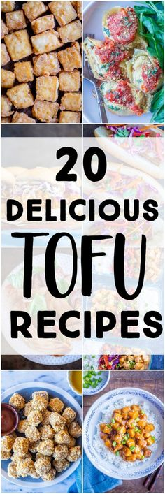 If you think tofu is bland and boring, I am here to change your mind! I've rounded up 20 delicious and flavorful tofu recipes! They're all easy to make and are anything but boring! #tofu #tofurecipes #vegetariantofu