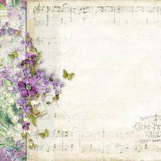 Violet music paper