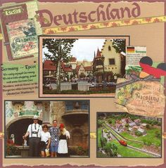 Germany Epcot Disney scrapbook layout