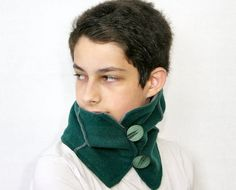 Recycled wool neck warmer emerald green neck warmer от piabarile
