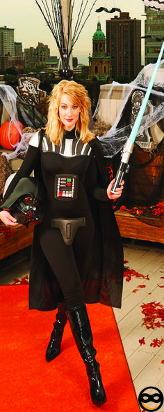 The dark side never looked so good with this female Darth Vader costume from BuyCostumes.com