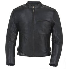 The Men's Grayson Leather Motorcycle Jacket has a full sleeve removable insulated liner, neck warmer, dual inside pockets, extended kidney panel, and snap side adjustment. The venting system has two arm vents and two rear exit vents for optimal airflow. Dual sleeve and rear vents move the air easily through a mesh shell while an internal wind flap stops it cold at the zipper. A zip out full sleeve insulated liner completes the climate control package.