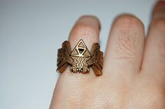 Totally want this! The Legend of Zelda Triforce Ring  PREORDER by knil on Etsy, $65.00