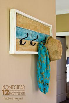 Rustic Coat Rack - Entryway Coat Rack - Decorative Towel Rack - Shabby Chic Wall Decor - Modern Farmhouse Decor - Kids Room Wall Decor