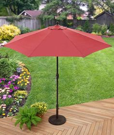 Better Homes & Gardens 9' Market Umbrella, Red