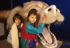 On the set of 'The NeverEnding Story'. How sweet would it be to have your own Falcor??