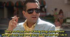 - Robert De Niro in Casino (1995) Dir. Martin Scorsese