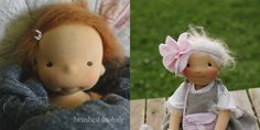 Discussing doll hair: brushed mohair wig, made with crochet. A very simple hair style for your waldorf inspired doll (via Fig and me).
