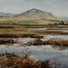 "2013, Wet Lands by Joseph Alleman Oil ~ 20"" x 20"""