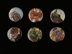 Avengers Repurposed Comic Button Set by EpicButtons on Etsy, $7.50