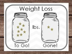 Weight Loss Sticker Chart- Mason Jar Star Goal Lbs Pounds - Goals Tracker - Binder Planner New Years Resolution -DIY PDF Digital Printable by PlayfulPrintShop