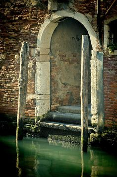 Waterfront entrance, Venice. This is the entrance to my dream home, believe it or not.