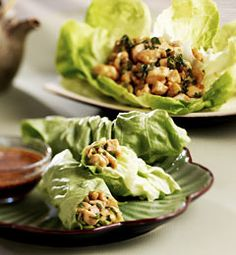 Spicy Chicken Lettuce Wraps Serves: 8 as an appetizer, 4 as a main dish