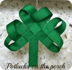 diy ribbon st patricks day wreath | project categories st patrick s day tags ribbon st patrick s day ...