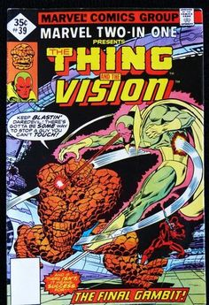 Marvel Two in One 39 Thing Vision Daredevil Marvel Comics | eBay