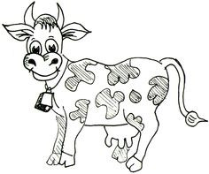 how to draw a simple cow - Google Search