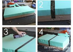 Upholstery Trim Furniture upholstery chair how to make. Pallet Ottoman, Diy Ottoman, Tufted Ottoman, Ottoman Ideas, How To Make Ottoman, Ottoman Table, Oversized Ottoman, Large Ottoman, Living Room Upholstery