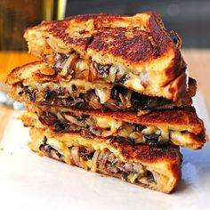 Gouda Grilled Cheese with Roasted Mushrooms and Onions